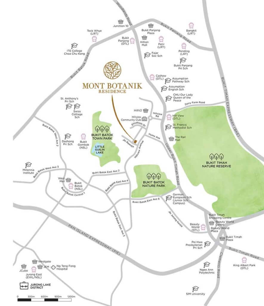 montbotankikresidence-location-map